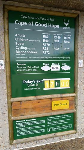 Cape Point Entrance Fees